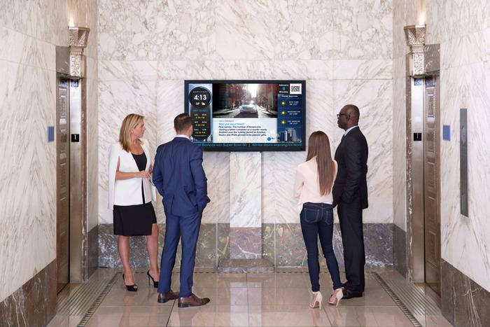 Màn hình quảng cáo LCD lắp đặt tại thang máy